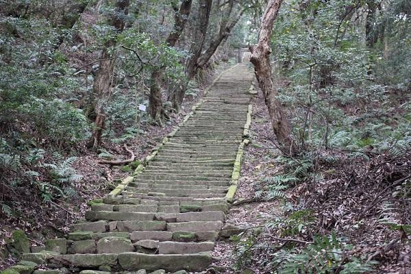 上山公園、石の階段の写真