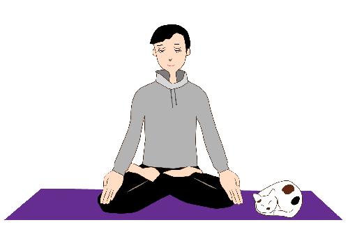 瞑想しているイラスト