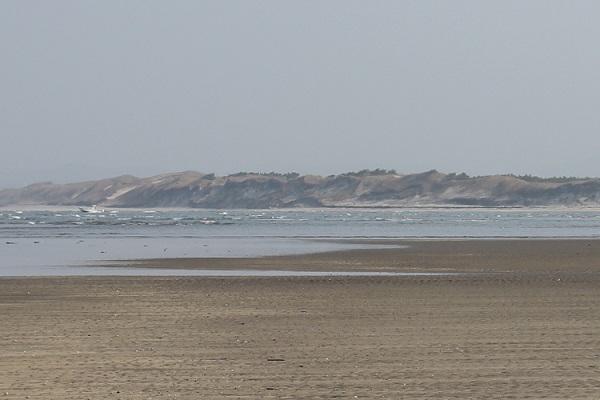 吹上浜海岸と美しい砂丘の写真