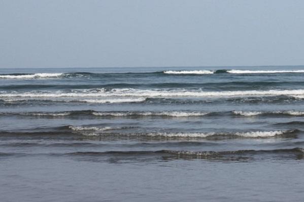 吹上浜海岸から見た海のようす
