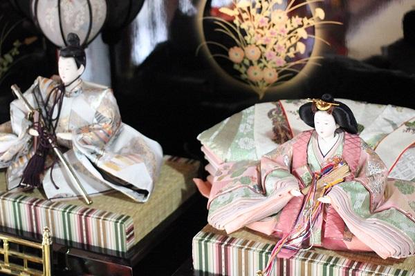 長崎街道松原宿ひな祭り、シックなお雛様とお内裏様の写真