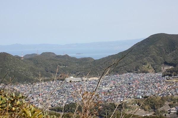 矢筈岳山頂からの景色の写真(街、住宅地)