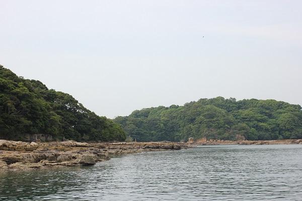 九十九島の海、桟橋付近の様子の写真
