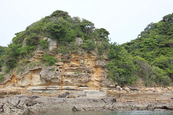九十九島の海、島の写真