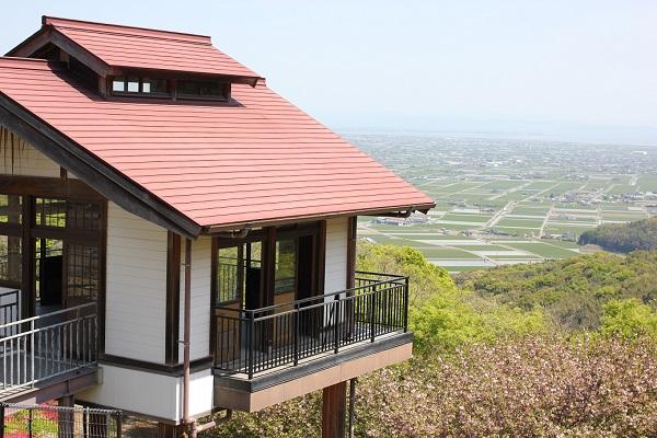 歌垣公園、絶景な佐賀平野が見渡せる展望所の写真