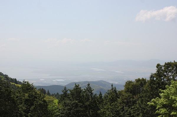 多良岳からみた諫早湾の写真
