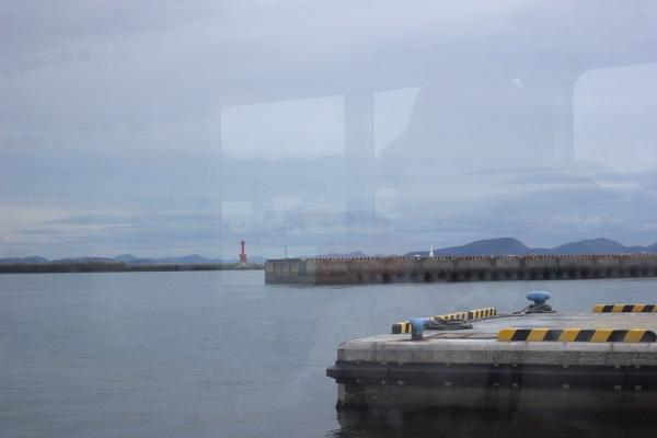 福江港を出港した時の景色の写真