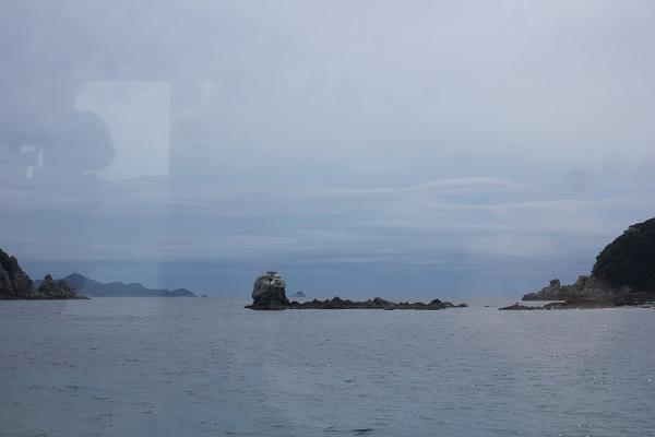 シーガルの窓から見える景色、海や小島
