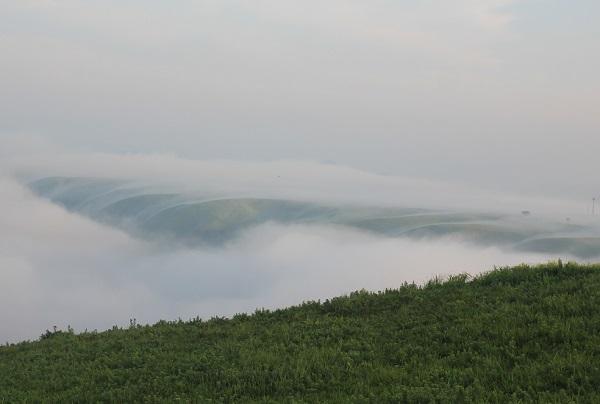 刻々と変わる雲海の様子