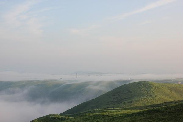 大観峰の雲海の写真