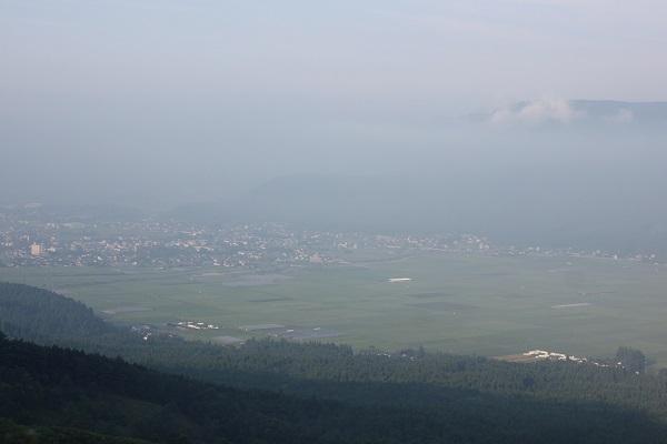 フォトスポット とるぱ 湯浦パーキングから見た雲海